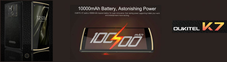 Oukitel K7 – Смартфон с 18:9 дисплей и мощна 10000 MAh батерия