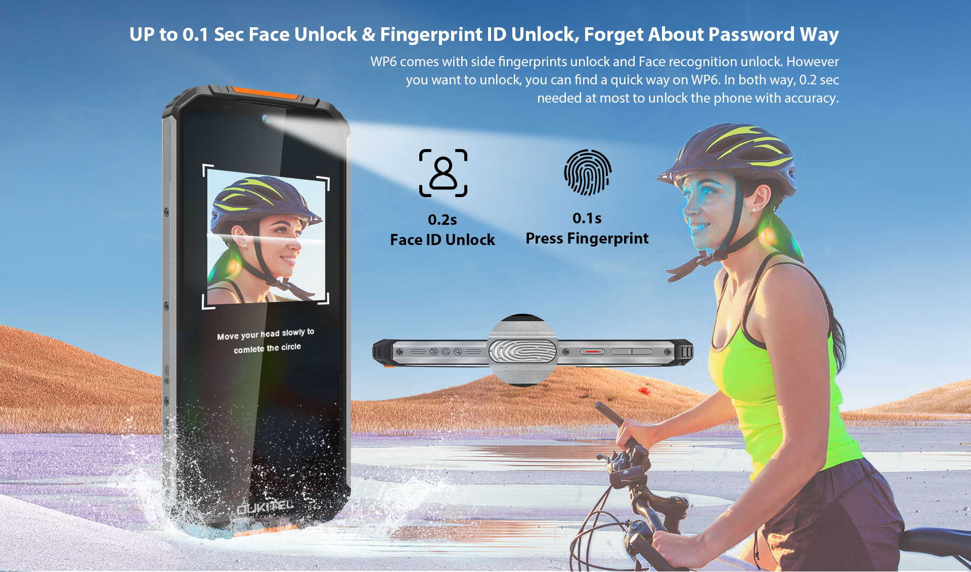 Oukitel WP6 fingerprint face id