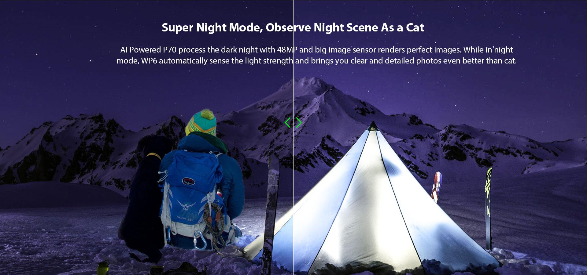Oukitel WP6 нощни снимки